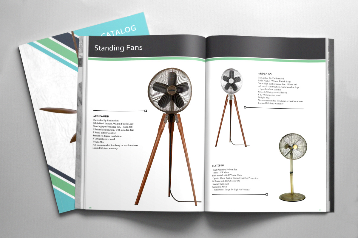 fans lights hua hin catalog design